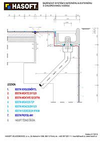 Bazénový systém v interiéri a exteriéri s chlórovanou vodou