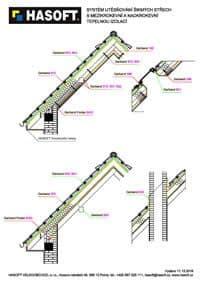Systém utesňovania šikmých striech s medzikrokvovou a nadkrokvovou tepelnou izoláciou